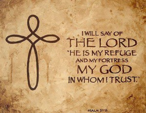 The Lord is my refuge graphic